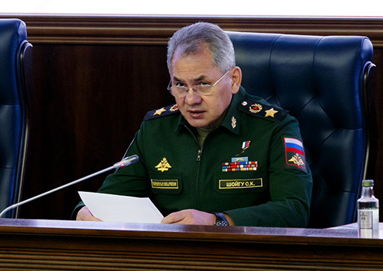 Выступление Министра обороны России Сергея Шойгу на заседании Коллегии Министерства обороны