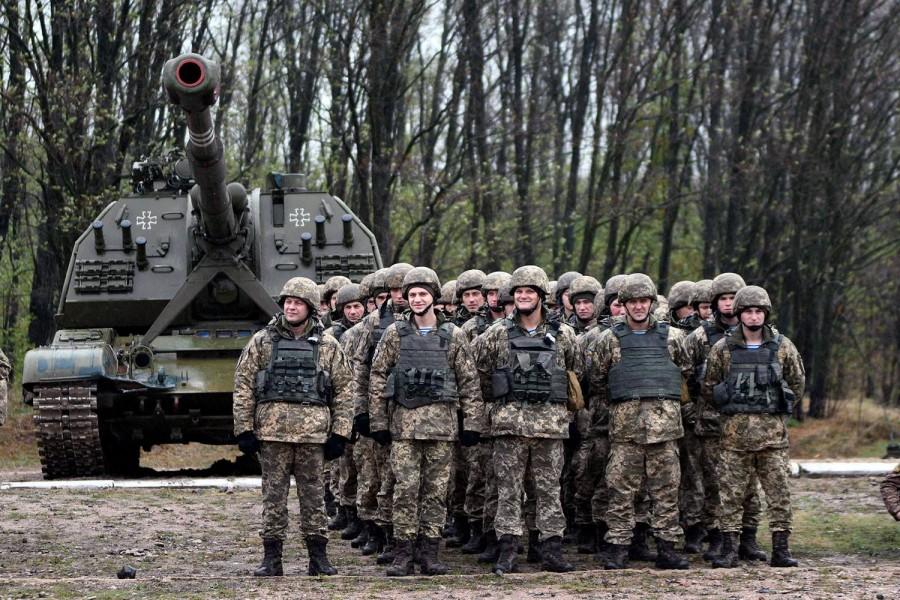 Новые опознавательные знаки в 26-й отдельной артиллерийской бригаде украинской армии