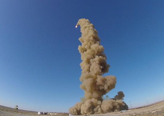 Пуск новой противоракеты ПРС-1М в Сары-Шагане