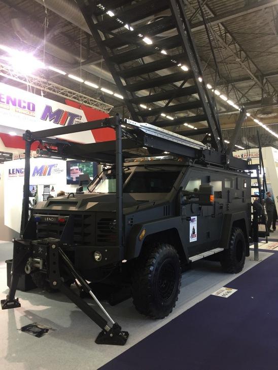 Бронеавтомобили американской компании Lenco Armored Vehicles на выставке Milipol 2017