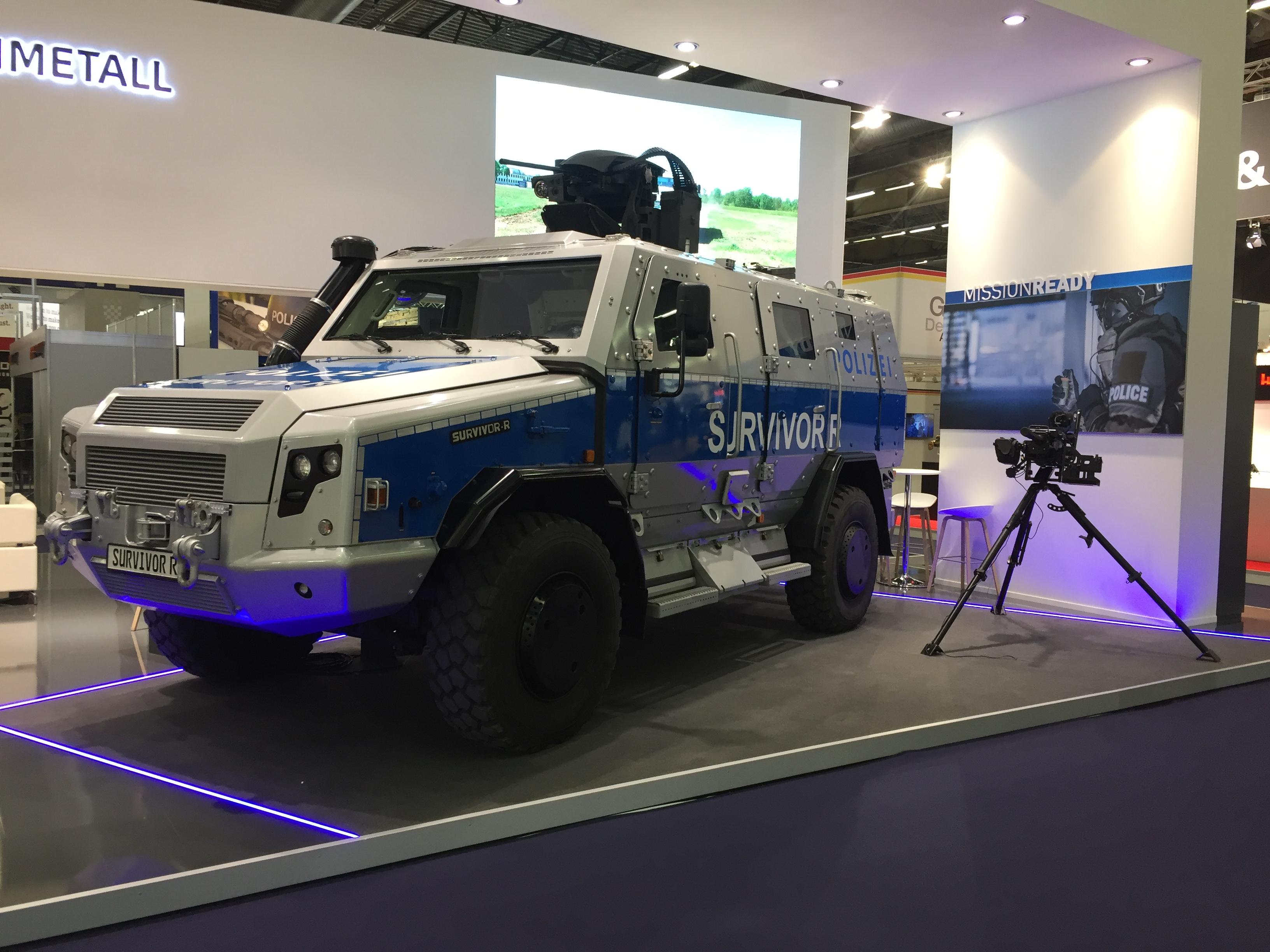 Armored car Rheinmetall Survivor R 4x4 manufactured by Rheinmetall concern