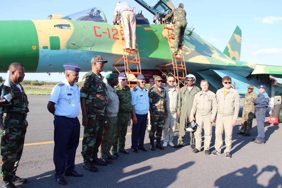 The first Su-30K in Angola