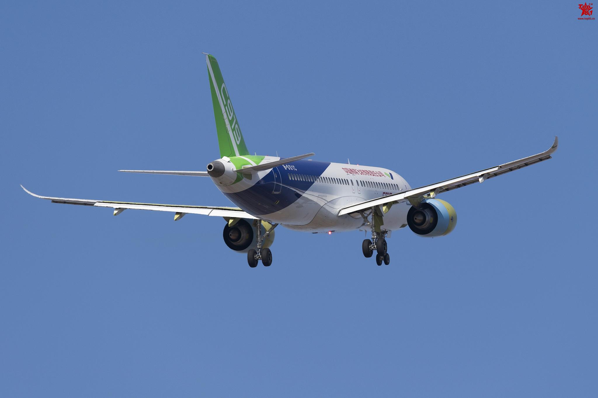 Совершил первый полет второй прототип китайского пассажирского самолета С919 номер, СОМАС, самолета, регистрационный, серийный, 10102, Шанхае, полет, В001С, китайского, пассажирского, второго, опытного, образца, созданным, двигателями, Шанхай, 17122017, wwwsinodefenceforumcom, первого