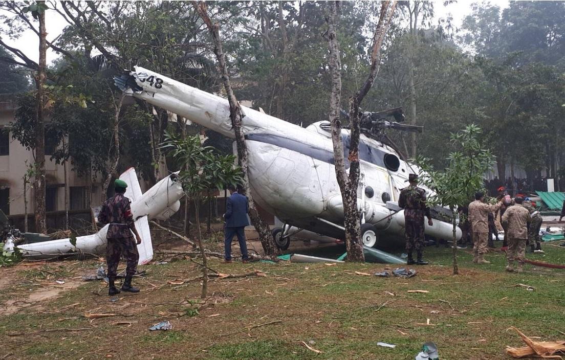 В Бангладеш разбился вертолет Ми-171Ш с начальником генерального штаба вооруженных сил Кувейта