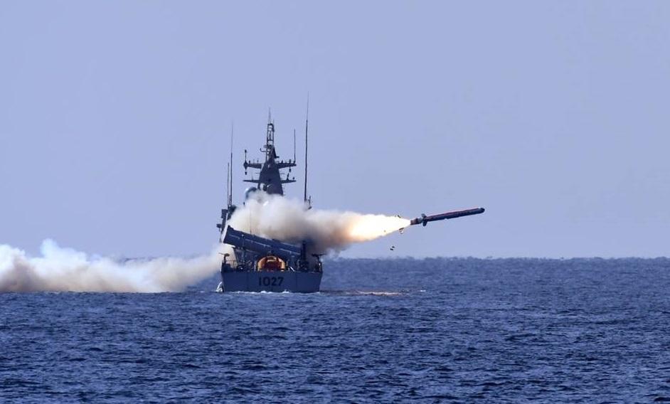Испытания пакистанской противокорабельной ракеты Harbah