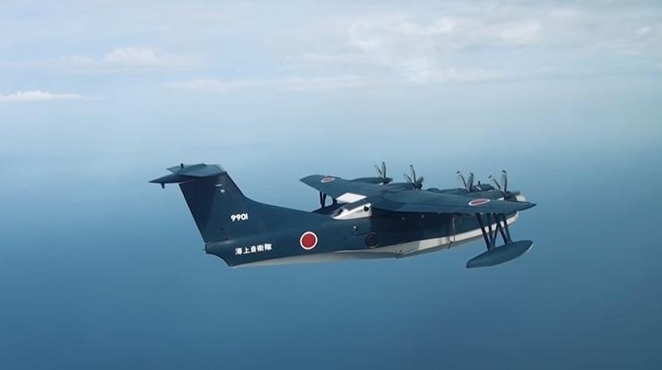 Японские летающие лодки-амфибии US-2 в действии