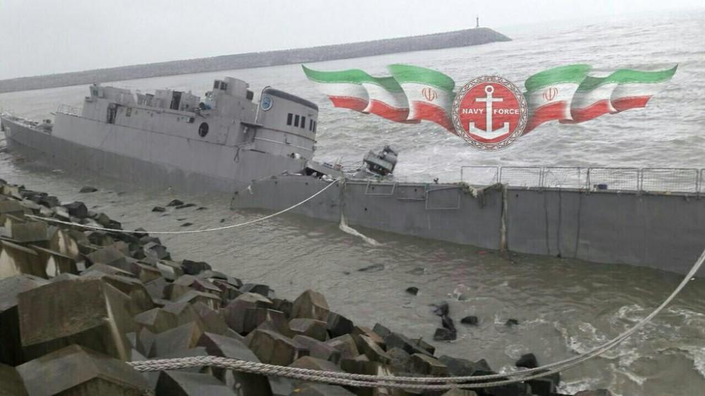 Иранский фрегат Damavand полностью разрушен