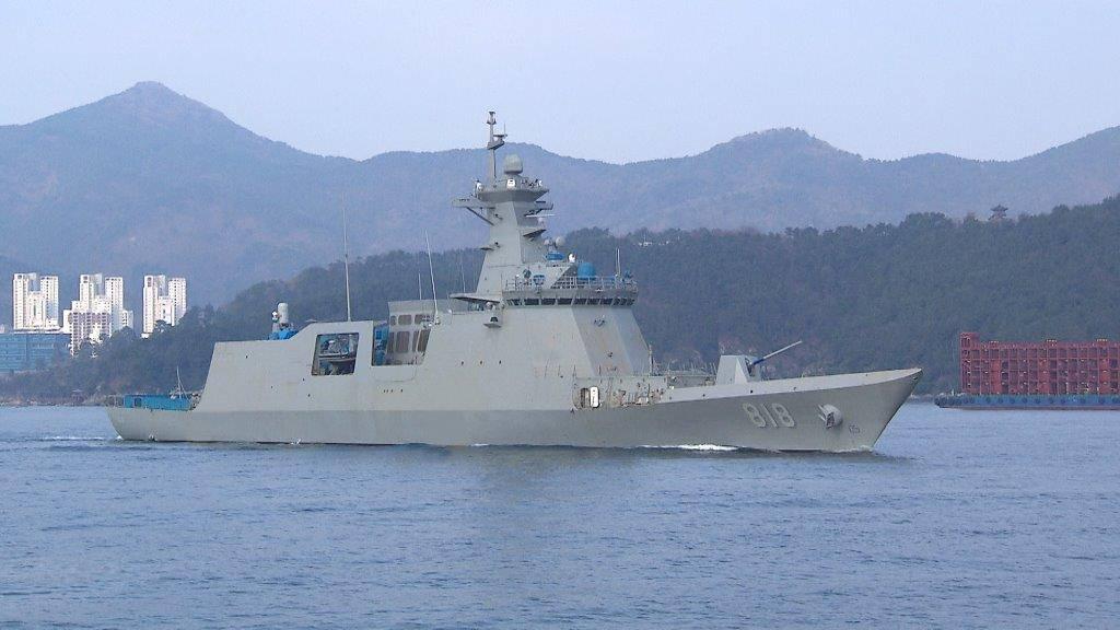 Новый южнокорейский фрегат
