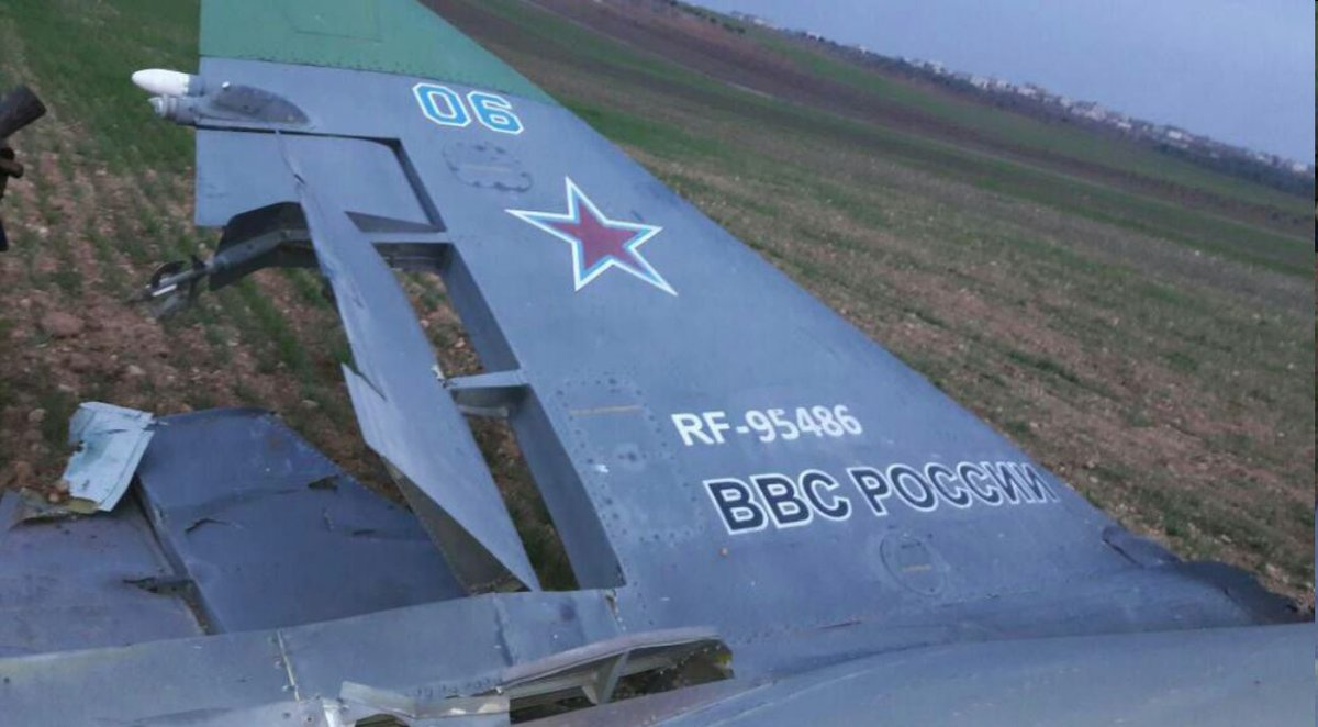 В Сирии сбит российский штурмовик Су-25СМ