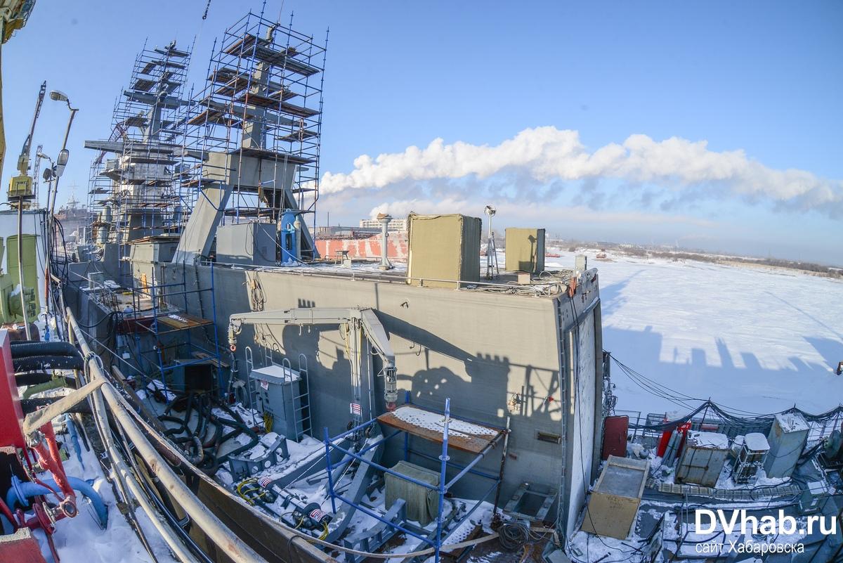 Корвет «Громкий» проекта 20380 в достройке на Амурском судостроительном заводе