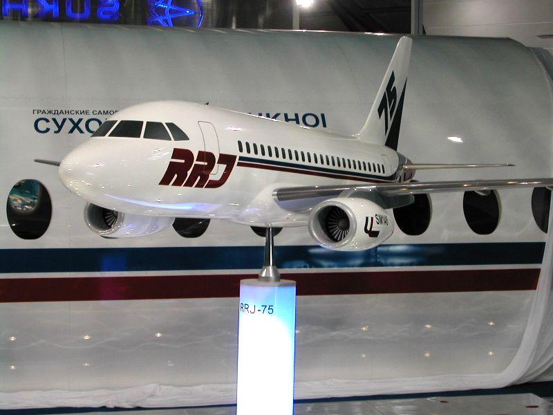 Снова 75-местная версия самолета SSJ100 RRJ-75