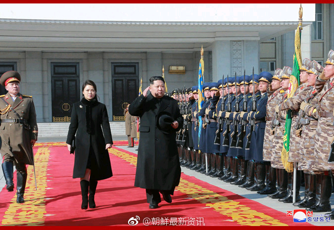 Moments of the military parade in honor of the 70th anniversary of the Korean People's Army