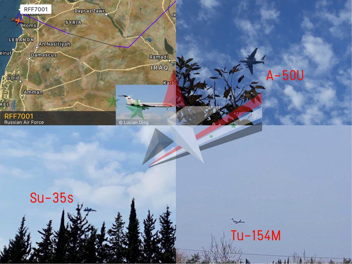 На Хмеймим переброшены четыре истребителя Су-35С и самолет радиолокационного дозора А-50У