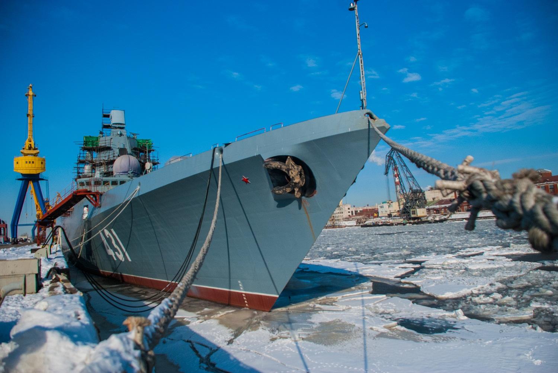 Фрегат «Адмирал флота Касатонов» подготовлен к вселению экипажа