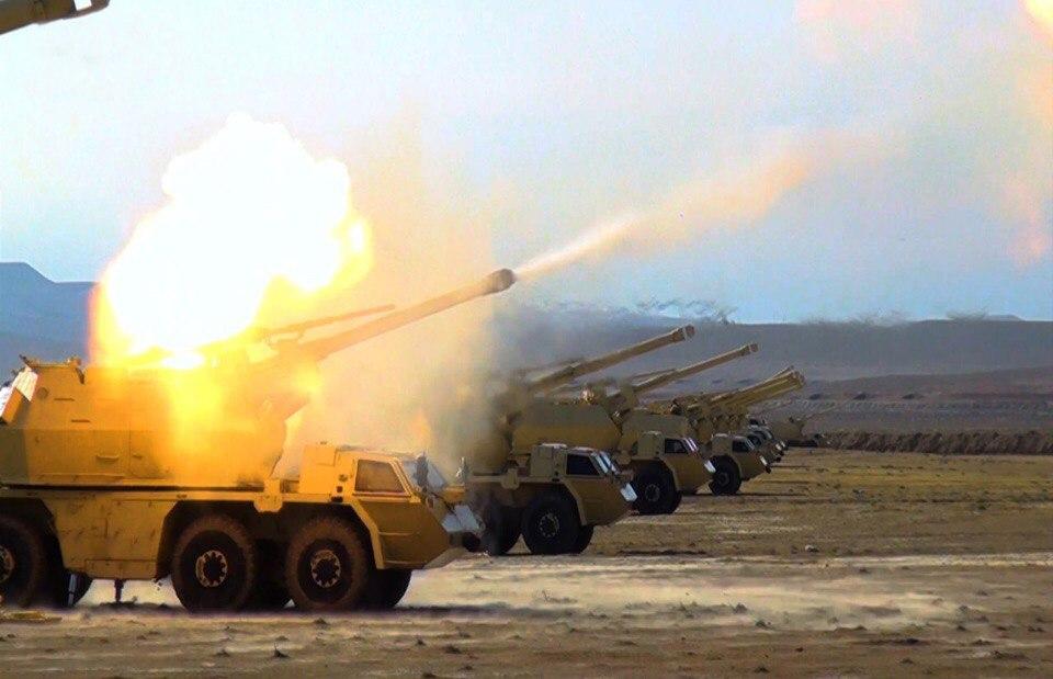 Активная фаза широкомасштабных учений азербайджанской армии