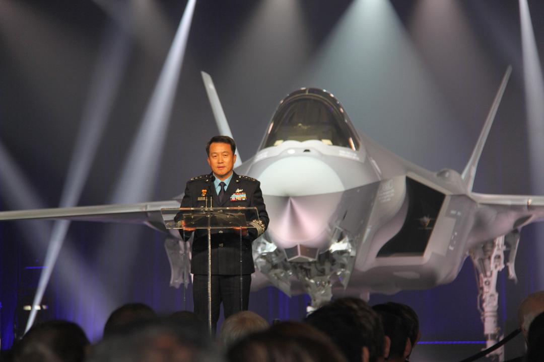 Церемония презентации первого истребителя F-35А для ВВС Южной Кореи