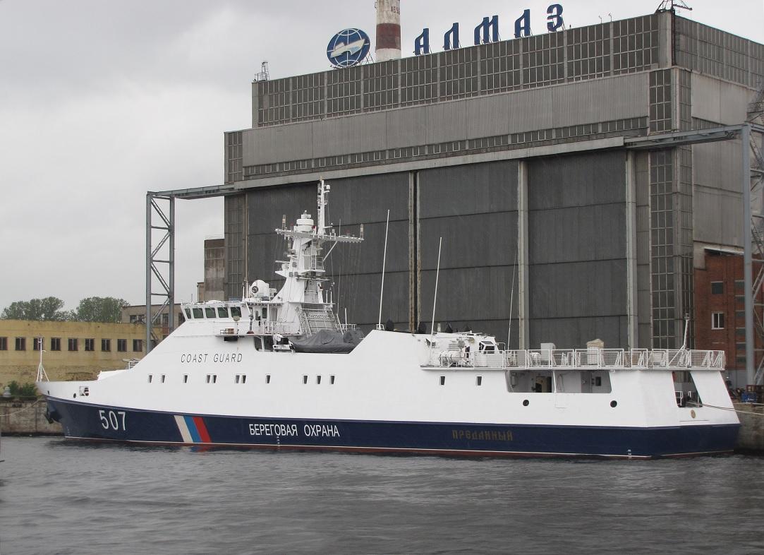 """Судостроительная фирма """"Алмаз"""" получила контракты на ледокол проекта 21180М и два патрульных корабля"""