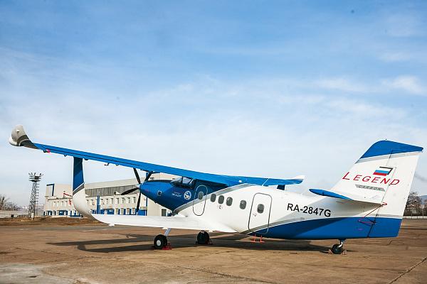 Опытный образец самолёта ТВС-2ДТС в Улан-Удэ