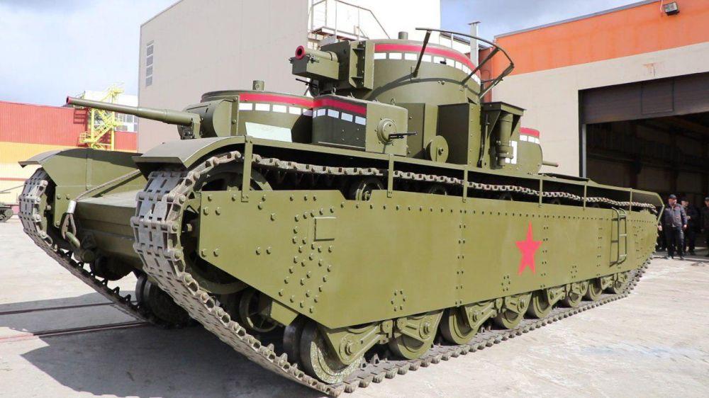 Ходовая копия советского тяжелого танка Т-35