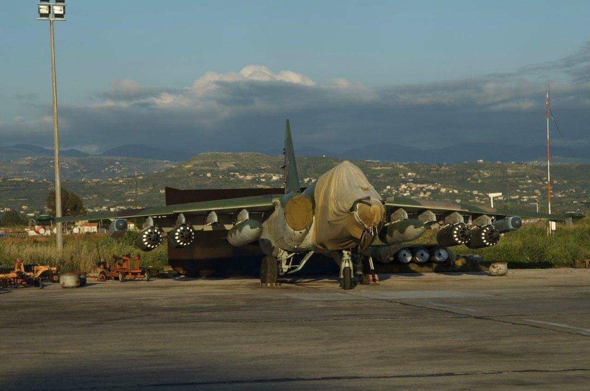 Су-25СМ3 на аэродроме Хмеймим