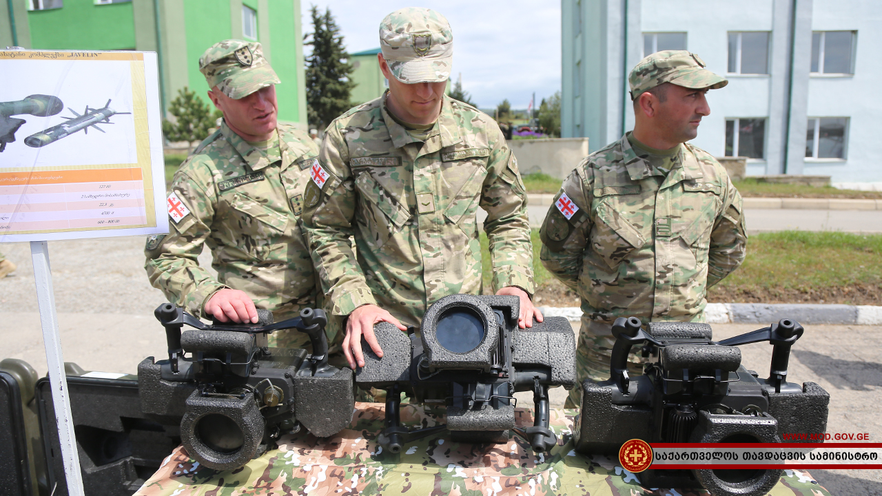 First public demonstration of Javelin anti-tank missile systems in Georgia Javelin, Georgia, complexes, army, Vaziani, anti-tank, weapons, April, American, number, first, Georgia, supplies, rocket, Georgia, defense