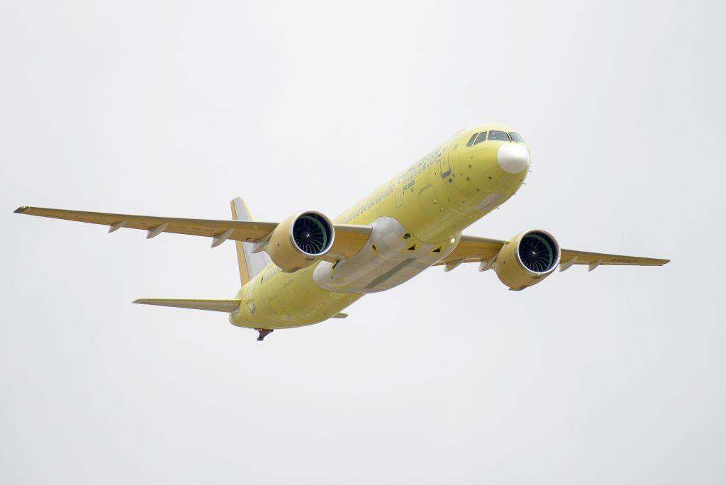 Первый полет второго опытного самолета МС-21