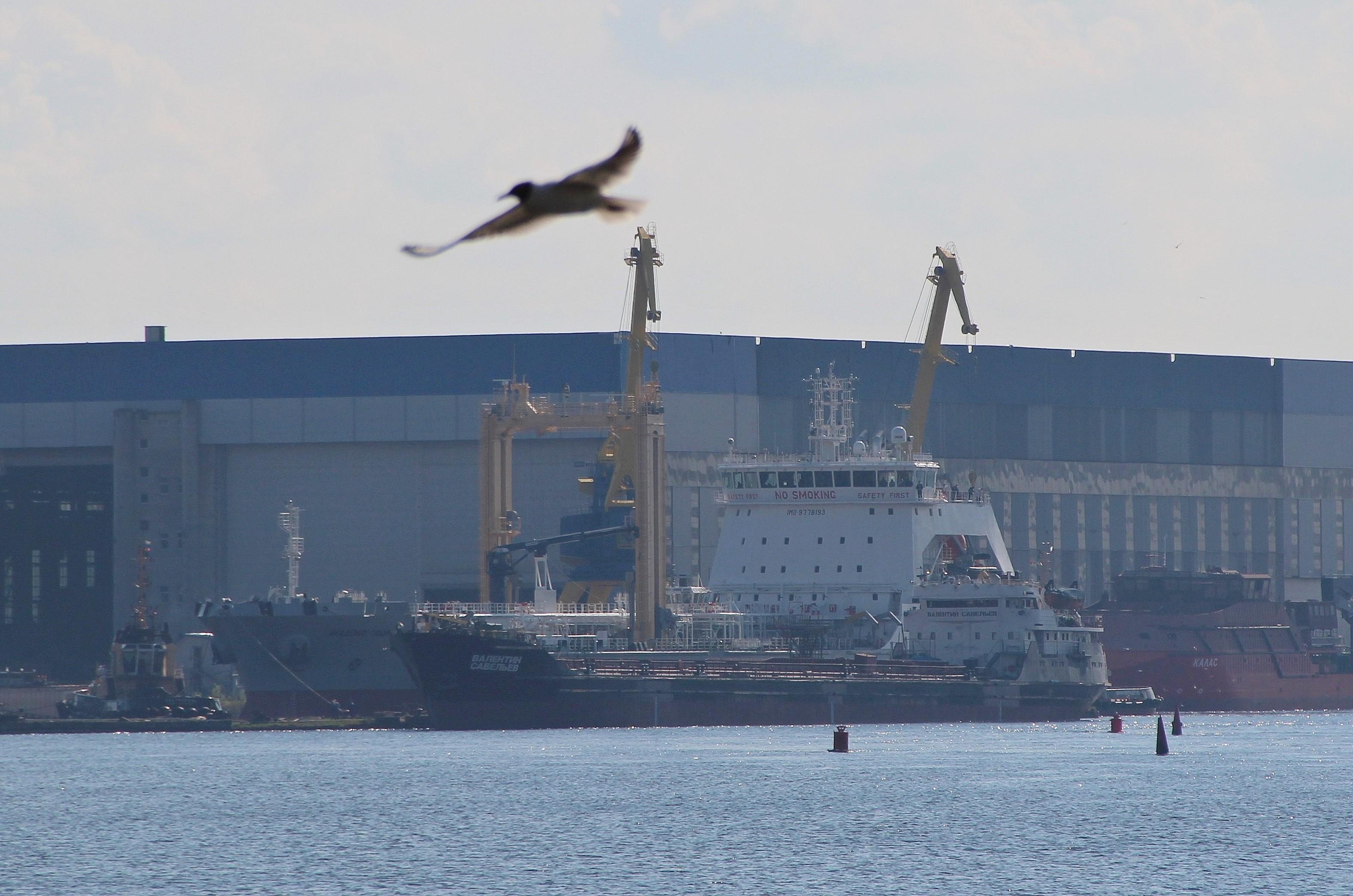 """Средний морской танкер """"Академик Пашин"""" проекта 23130 вышел на заводские ходовые испытания"""