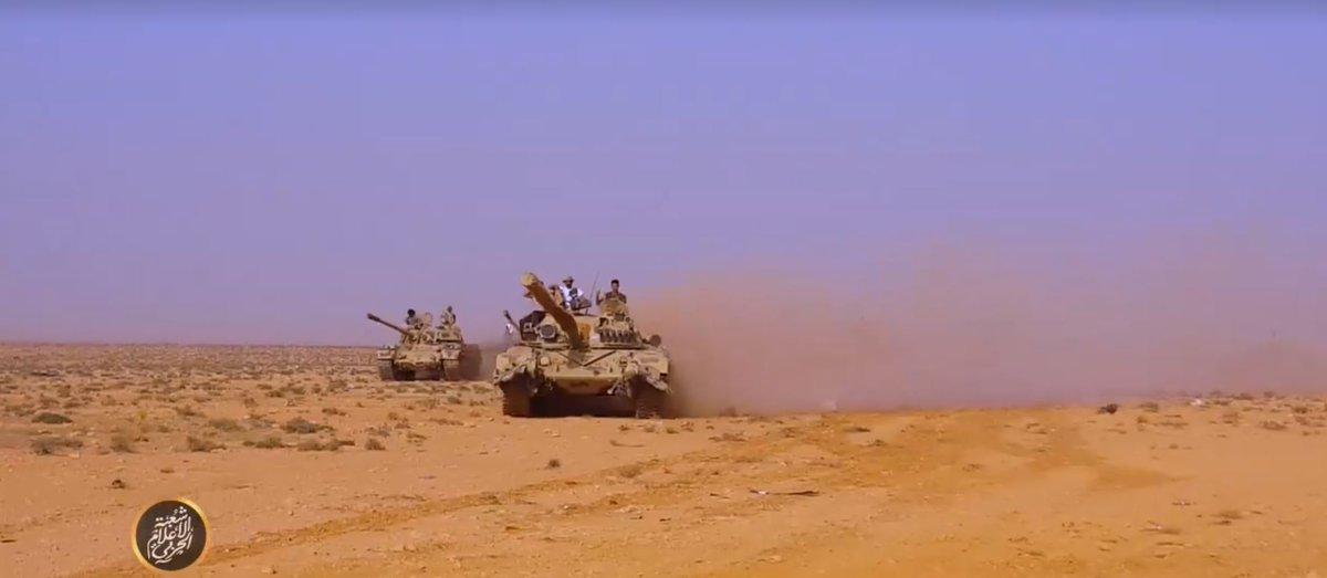 Войска фельдмаршала Хафтара на подступах к городу Дерна на востоке Ливии