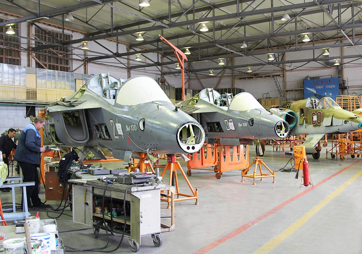 121-й авиационный ремонтный завод в Кубинке осваивает ремонт самолетов Як-130