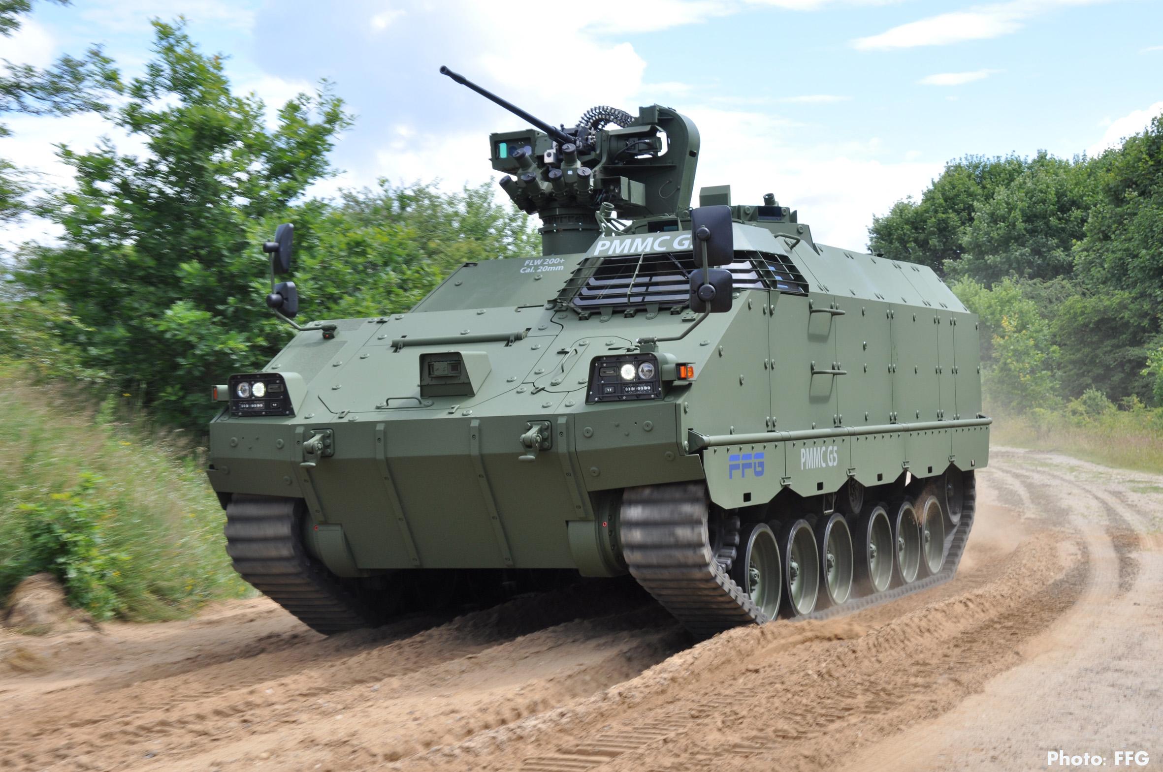 Норвегия приобретает гусеничные бронированные машины FFG PMMC G5