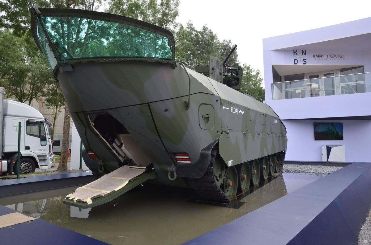 Гусеничная бронированная амфибийная машина APVT от KMW