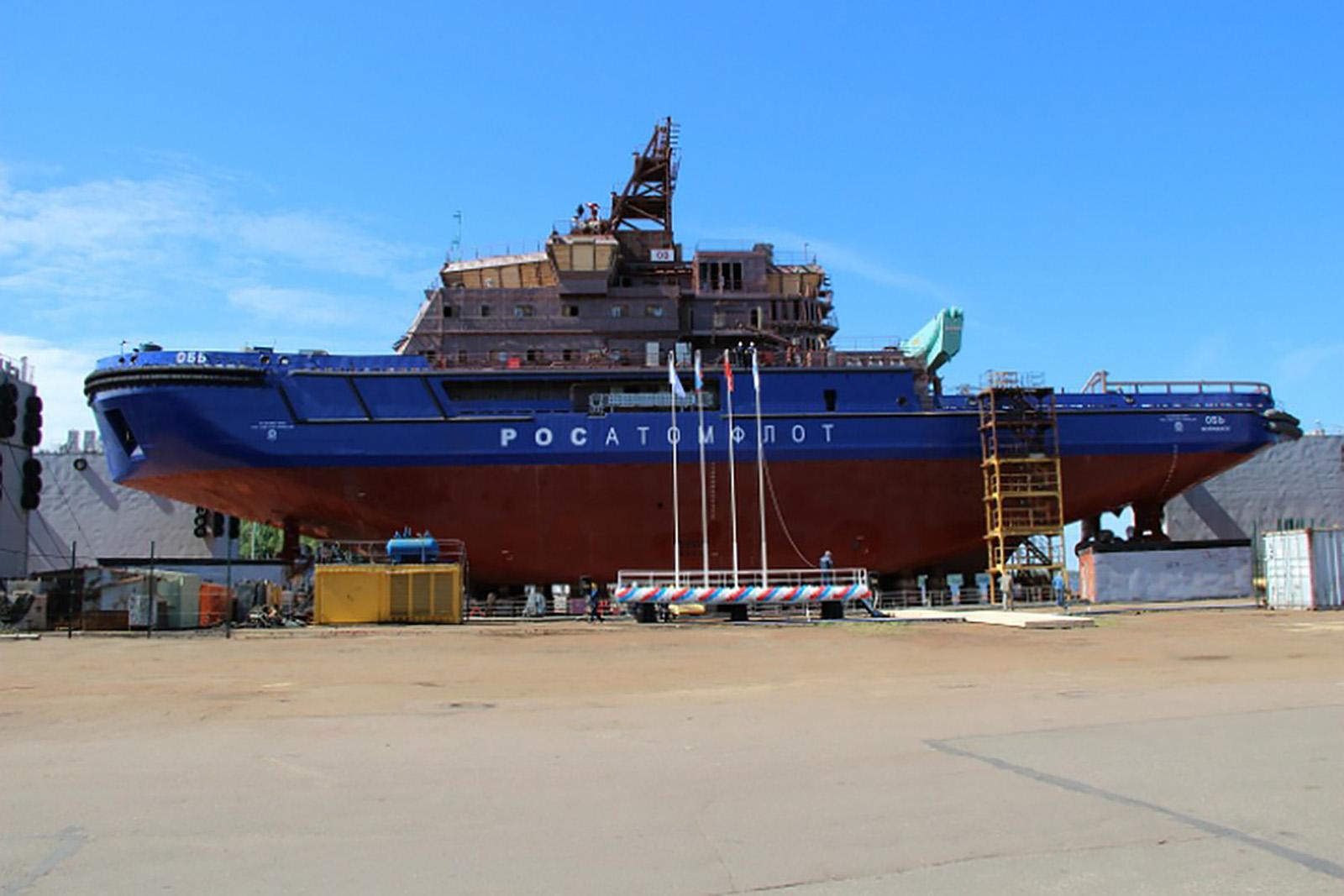 В Выборге спущен на воду портовый ледокол «Обь»