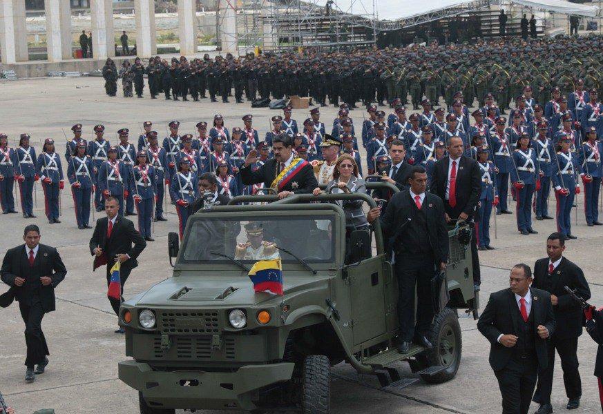Военный парад в Венесуэле 5 июля 2018 года