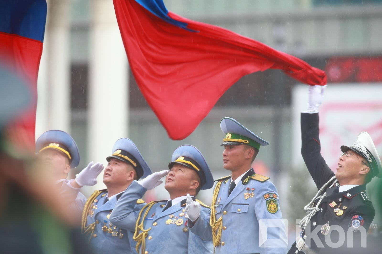 Военный парад в Монголии в честь Дня народной революции 1921 года
