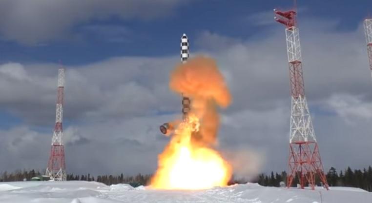 Завершены бросковые испытания баллистической ракеты «Сармат»