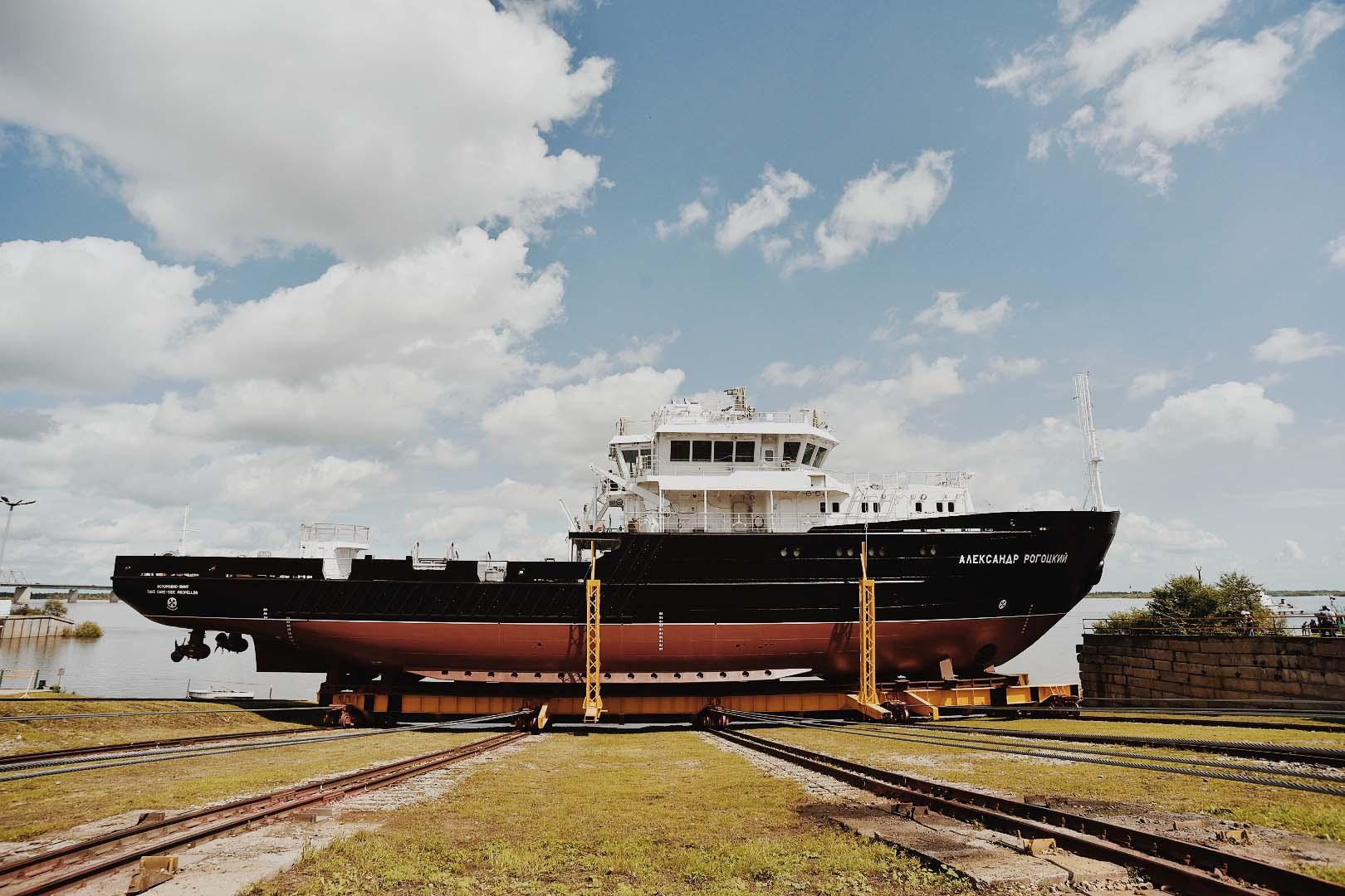 Спущено на воду малое гидрографическое судно «Александр Рогоцкий»