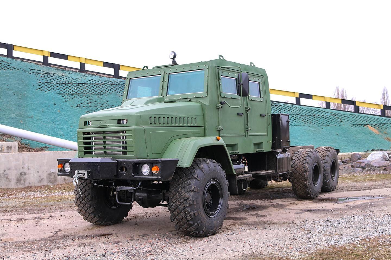 Автомобильное шасси КрАЗ‑63221 для украинской самоходной гаубицы «Богдана»