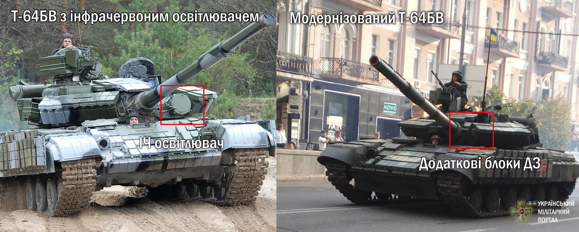 Модернизация танков Т-64БВ на Украине