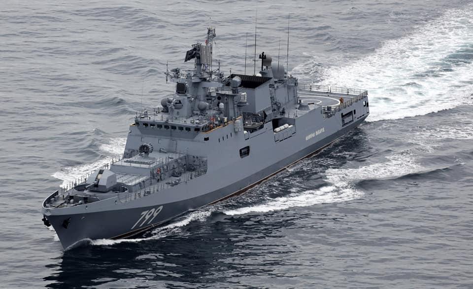 """Фрегат """"Адмирал Макаров"""" осуществляет переход на Черноморский флот"""