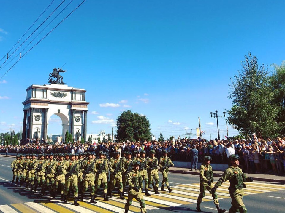 Military parade in honor of the 75th anniversary of the victory in the Battle of Kursk