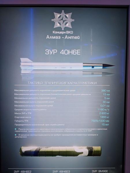 Дальнобойная зенитная управляемая ракета 40Н6 системы С-400 принята на вооружение