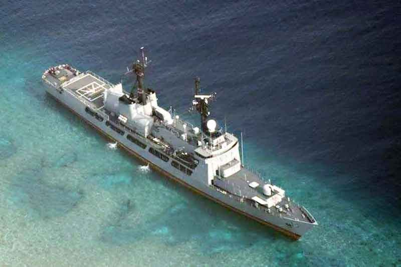 Флагман ВМС Филиппин фрегат Gregorio del Pilar сел на мель в архипелаге Спратли