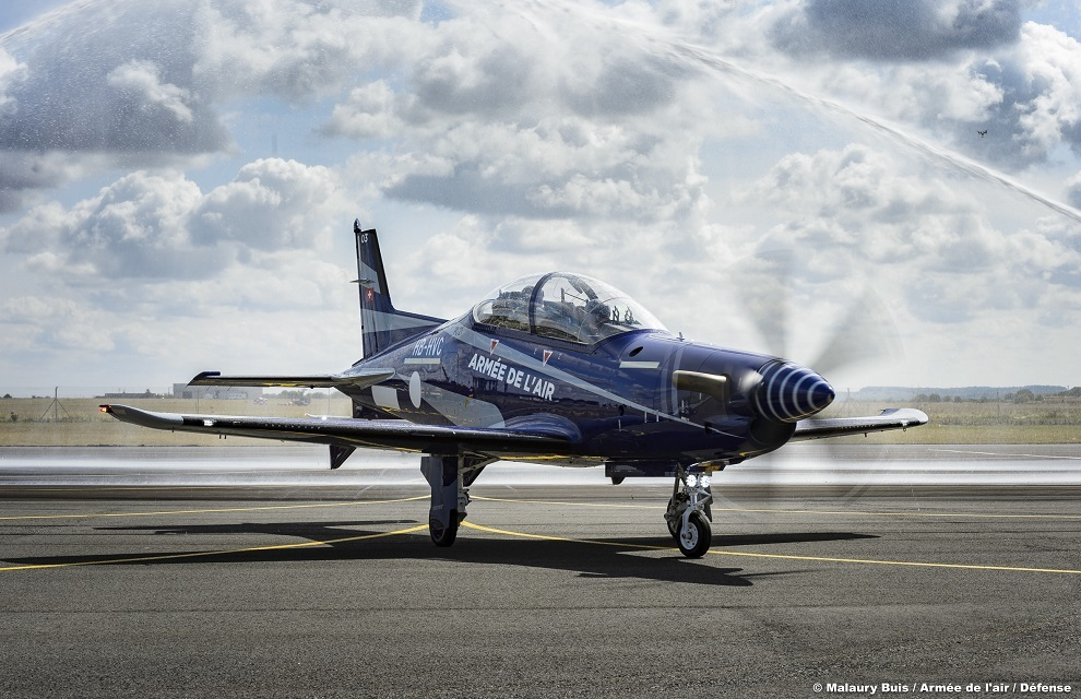 French Air Force received the first two training aircraft Pilatus PC-21 France, number, BMCSF, Pilatus, contract, Swiss, registration, temporary, registration, serial, this, will, pilots, built, flight, composition, training, aircraft, 711FC , will be