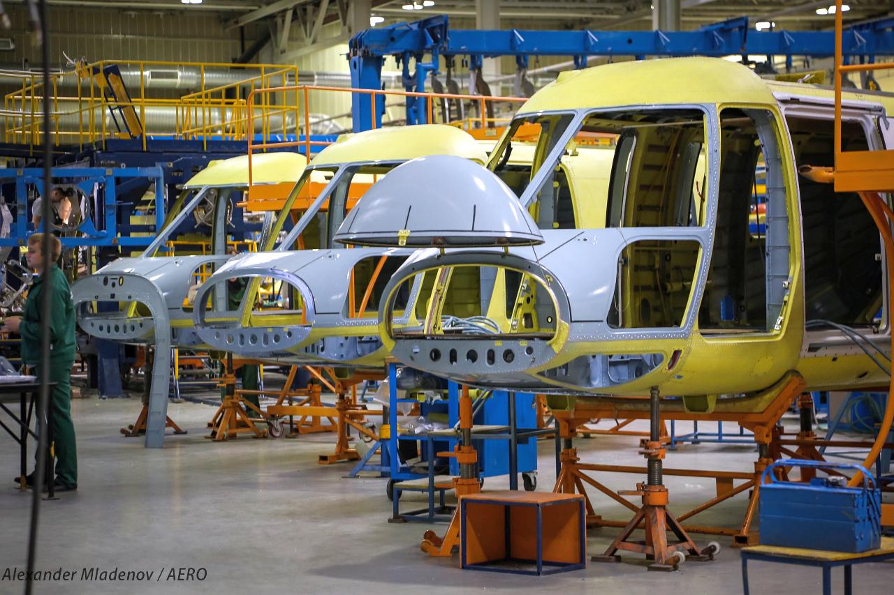 Cокращение объема производства на Казанском вертолетном заводе