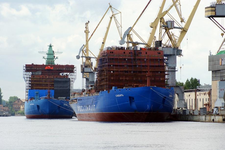 Новые сдвиги сроков готовности атомных ледоколов проекта 22220