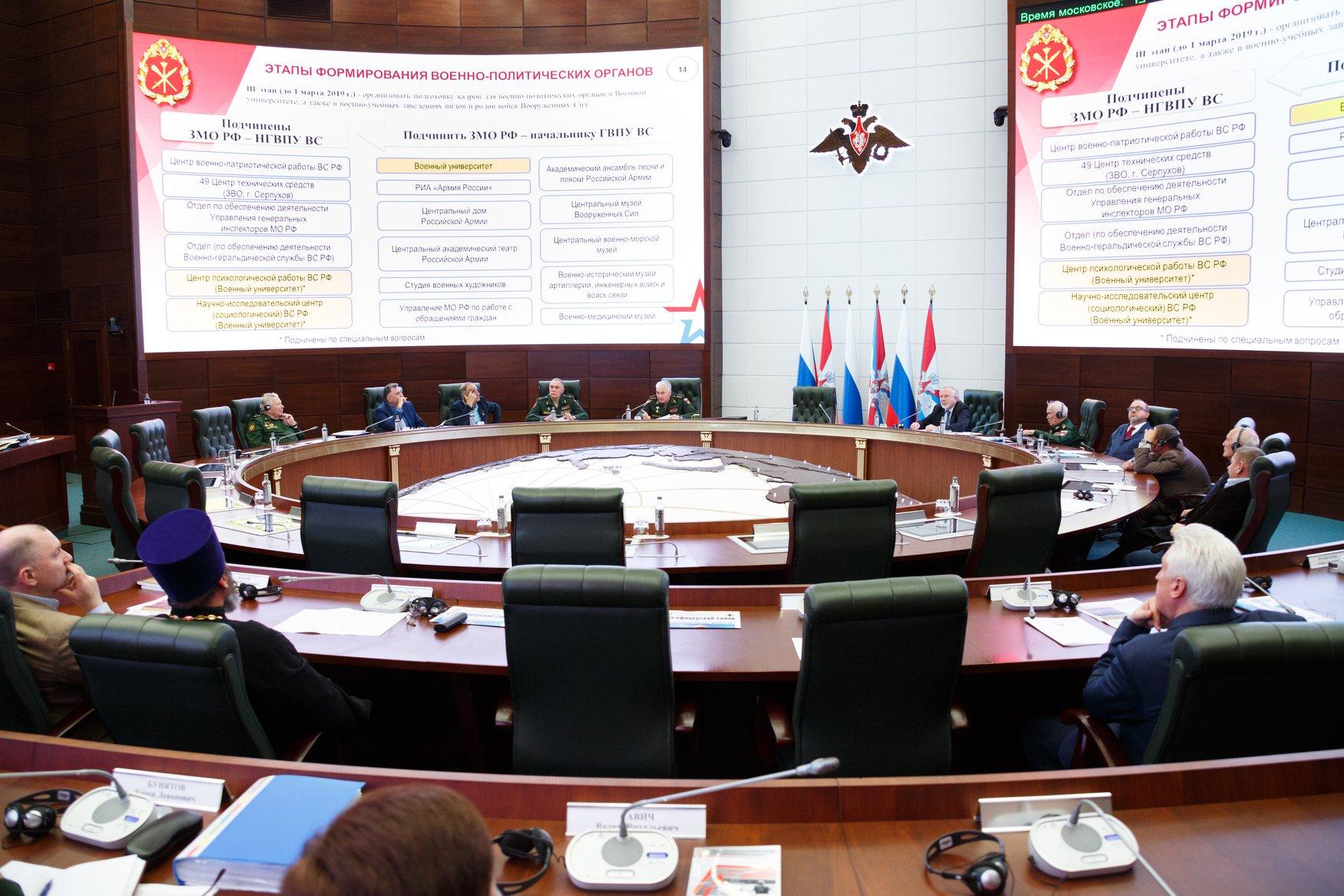 Заседание президиума Общественного совета при Министерстве обороны России