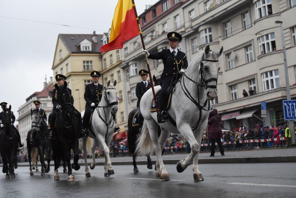 Военный парад в Праге в честь 100-летия образования Чехословакии