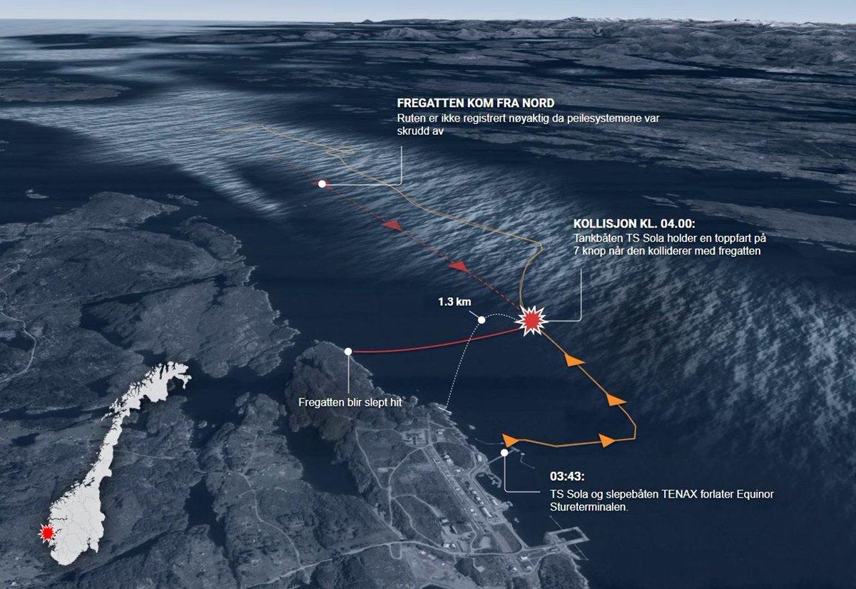 Норвежский фрегат Helge Ingstad полностью затонул DrszowqWsAAp32d