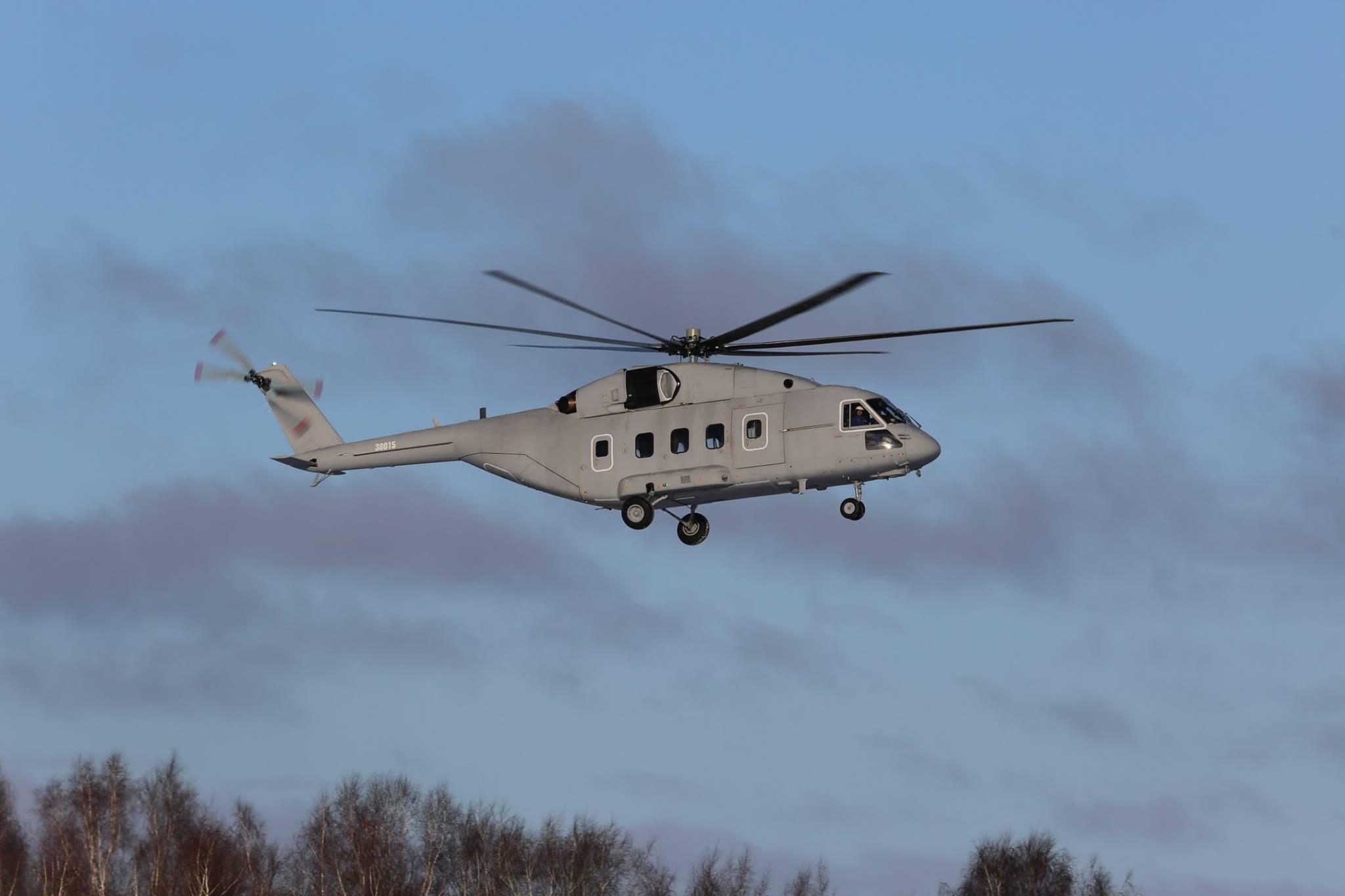 Первый полет опытного вертолета Ми-38Т для Министерства обороны России