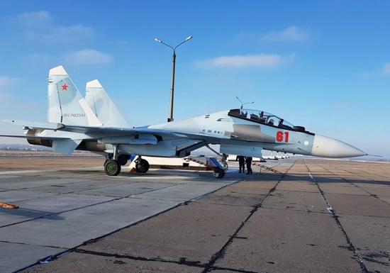 14-й гвардейский истребительный авиационный полк в Курске получил еще один истребитель Су-30СМ